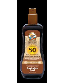 AUSTRALIAN GOLD SPF 30 SPRAY GEL PROTEZIONE SOLARE CON EFFETTO BRONZE 237ML